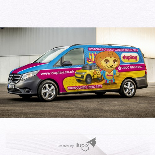 Vehicle wrap design and illustrations