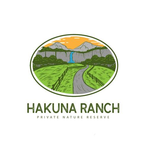 Hakuna Ranch concept logo