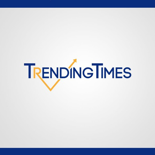 Horizontal text Logo concept for TrendingTimes : viral news site