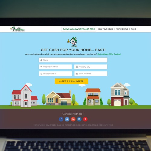 Landing page design for the number 1 home buyer
