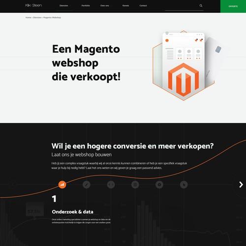 Website concept for development agency