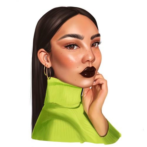 Semi realistic portrait