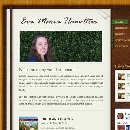 New Homepage for Harlequin Author - Eva Maria Hamilton