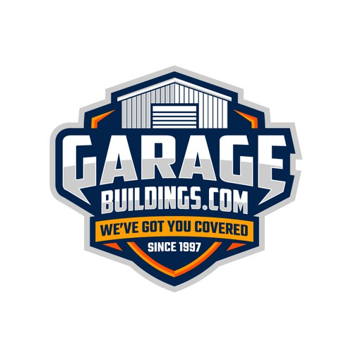 Bold logo of Garage Buildings