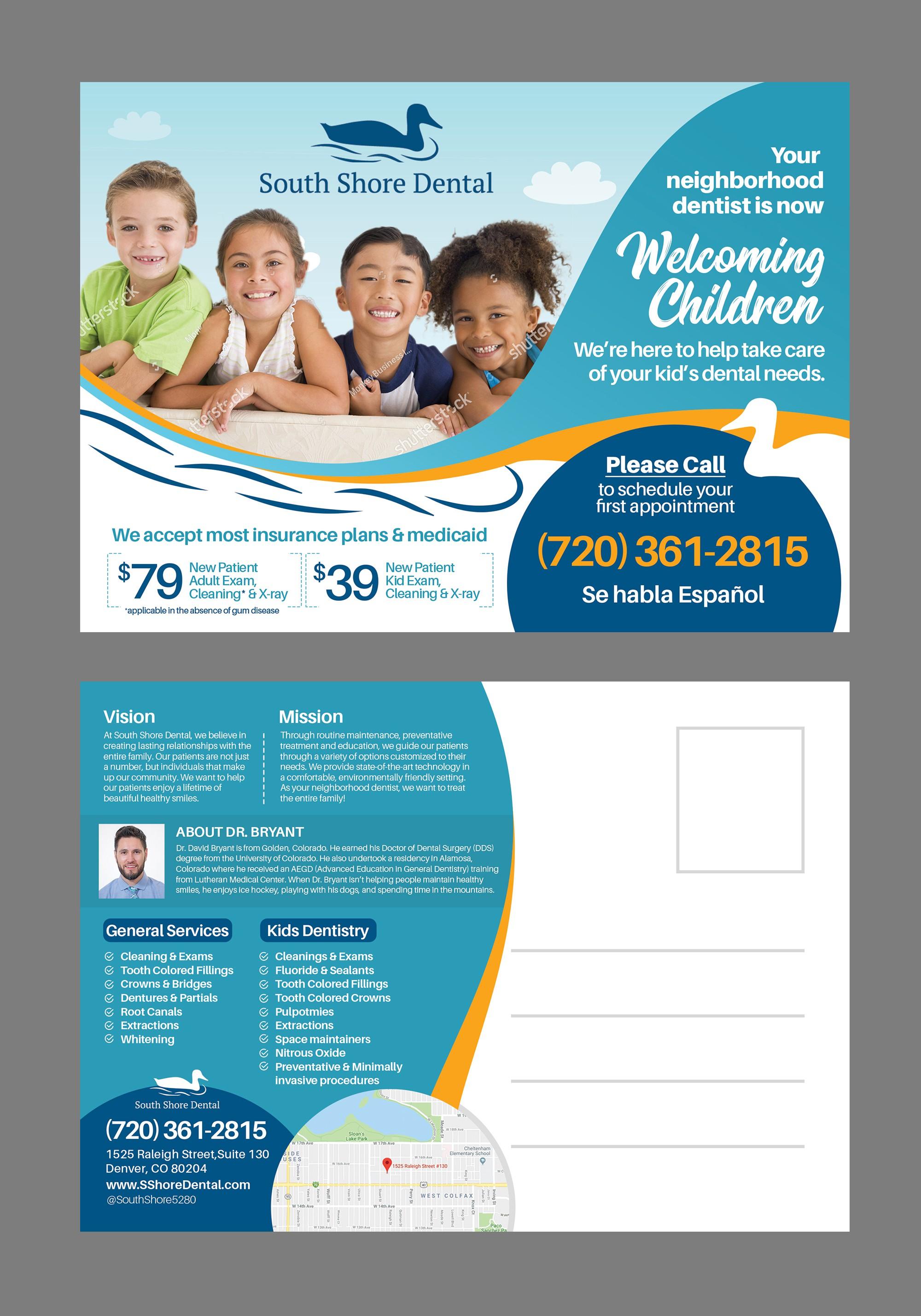 Mellow dental office wants fun mailer for new children dental division