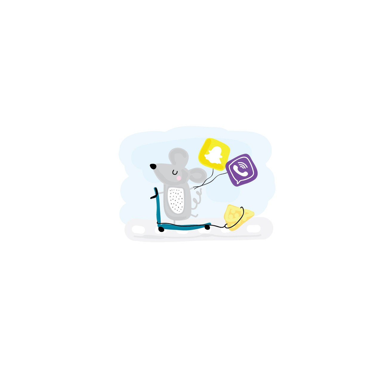 App onboarding screen illustrations