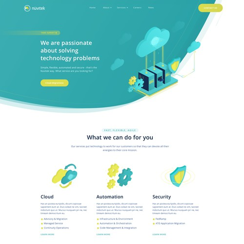 Landing Page for Nuvitek