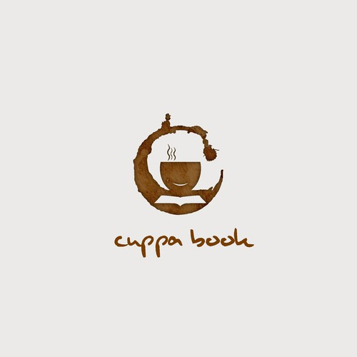 Logo for a bookstore with coffee shop