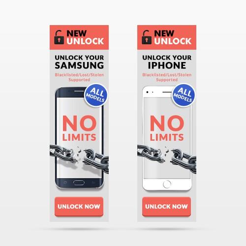 New Unlock banner Ad