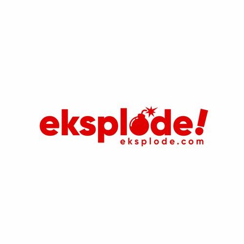 Bold logo for Eksplode.com
