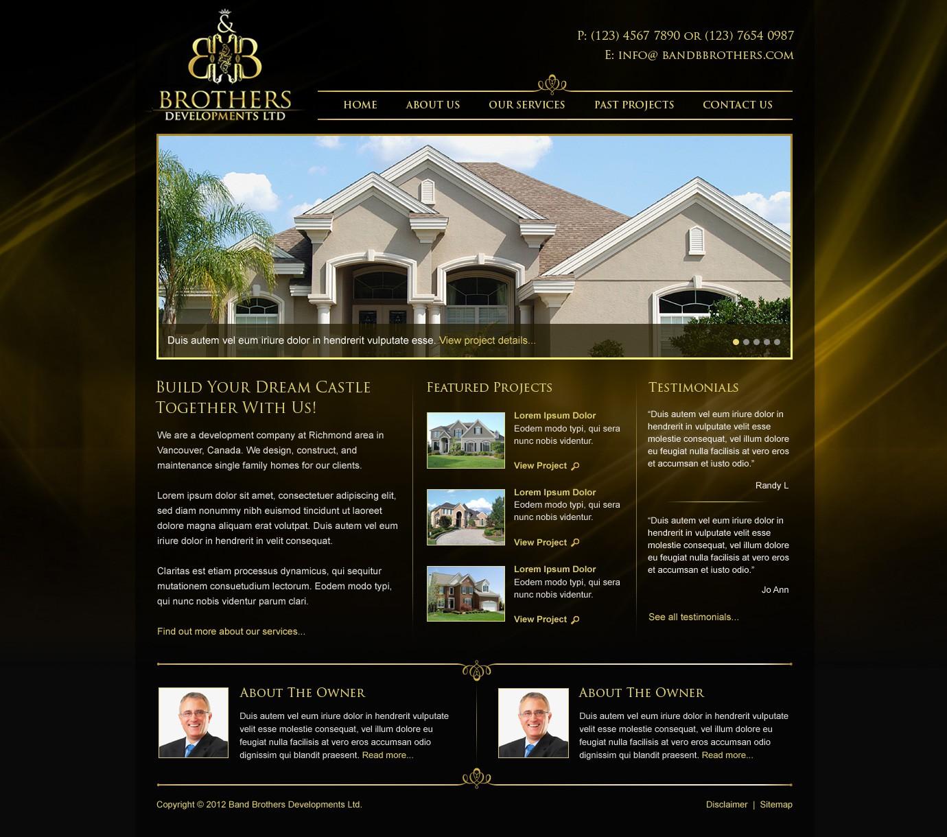 New website design wanted for b&b brothers developments ltd - bandbbrothers.com