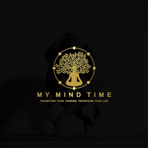 Hypnotherapy and meditation site a logo cool, simple and organic design.
