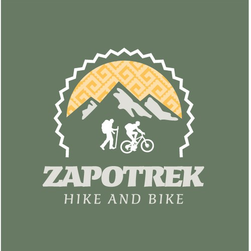 Hike and Bike travel company identity