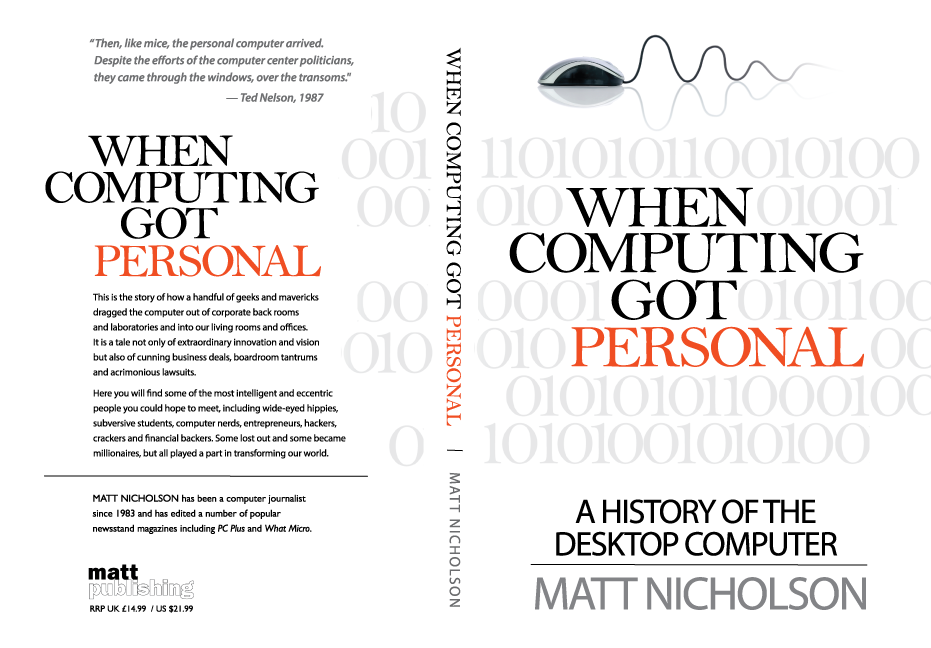Create a great cover for my book 'When Computing Got Personal'