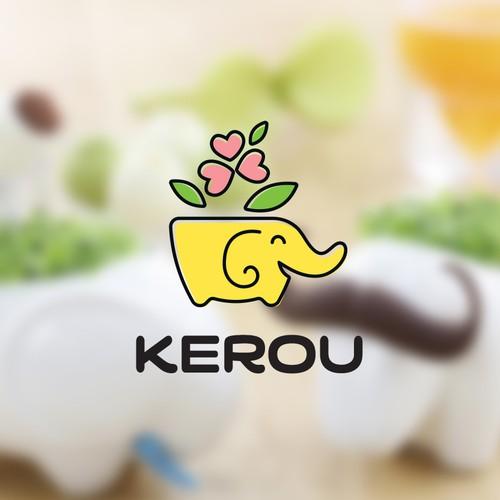 Logo concept for animal shaped flower pot
