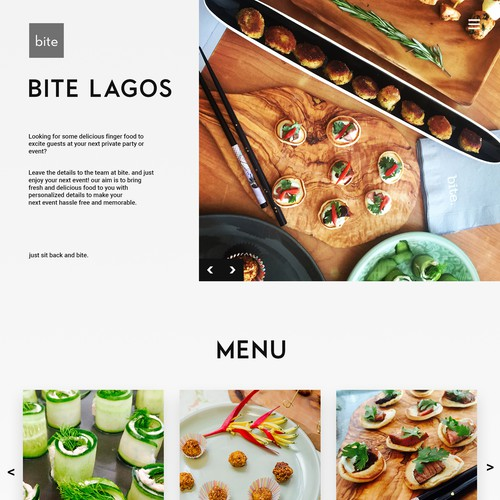 Home Page Concept for Bite Lagos