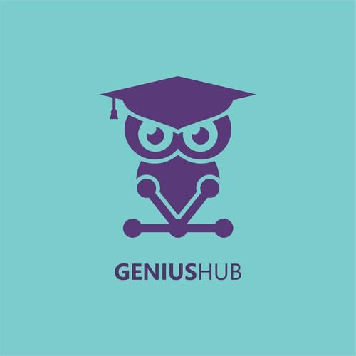 Simple clean logo for educational purpose