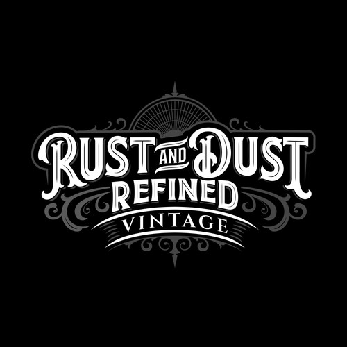 Lettering Logo concept for vintage and antique items shop.