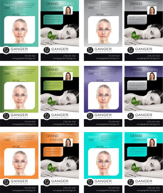 Postcard/flyer templates needed for Ganger Dermatology