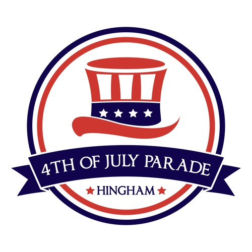 create a winning logo design for community 4th of July Parade in Hingham, MA