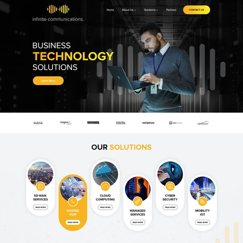 Infinite Communications website design