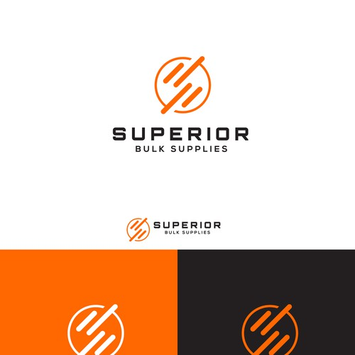 Superior bulk supplies logo design