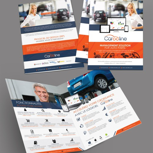 bifold brochure for the auto management solution software