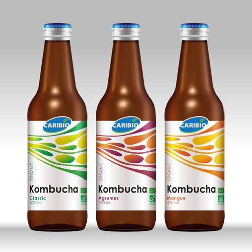 Label design for Kombucha organic