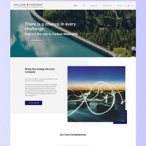 Homepage website design for Management Consulting company