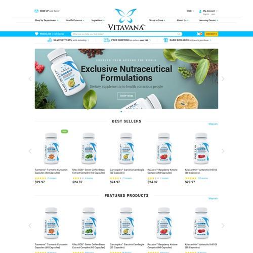 Website for Vitavana (e-commerce)