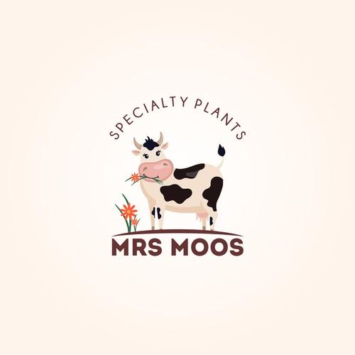 bold logo for Mrs Moos