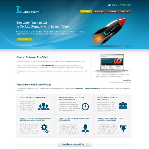 LaunchWare: A Killer Web Application Development Agency Needs a New Site