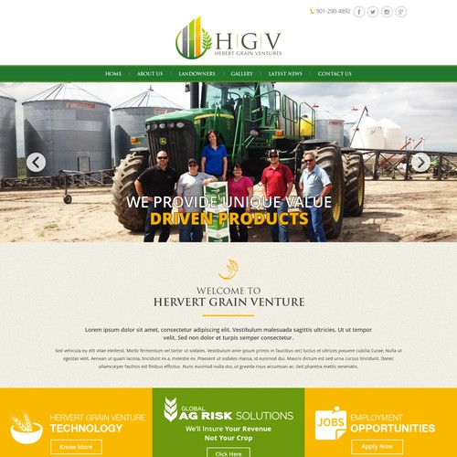 Agriculture Industries Web Design