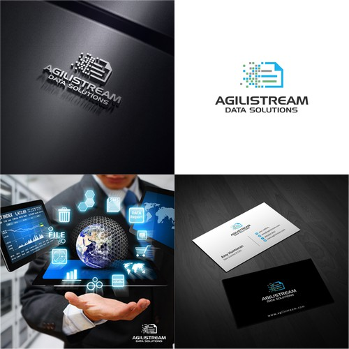 Design a logo and business card for Agilistream Data Solutions