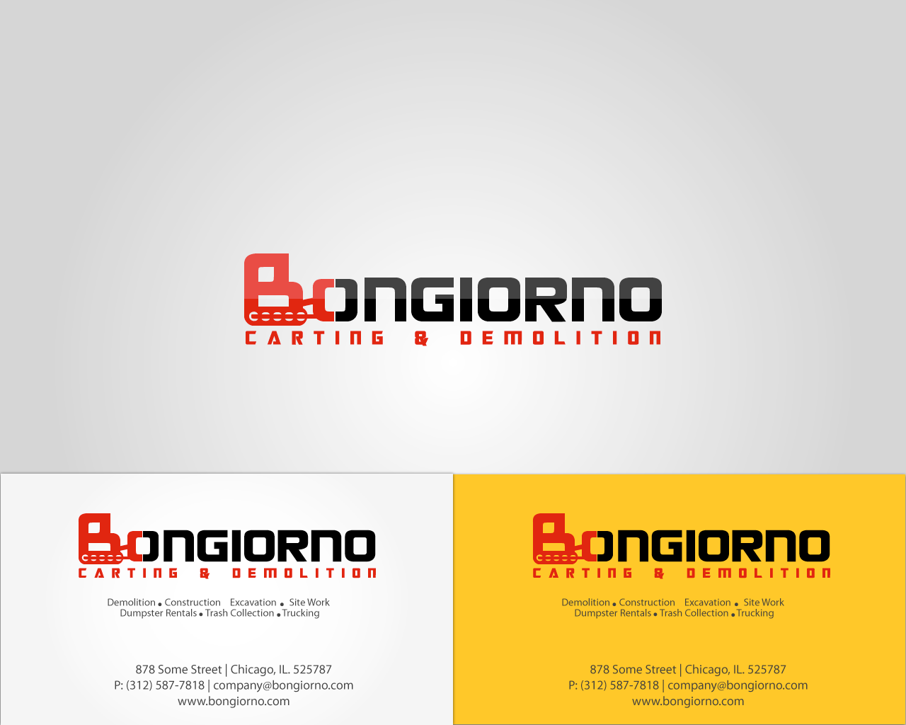 Create the next logo for Bongiorno Carting And Demolition