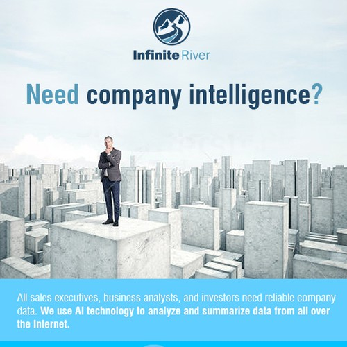 Promotional email for company intelligence database
