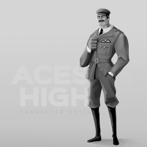 Flight Simulator Game Character Design