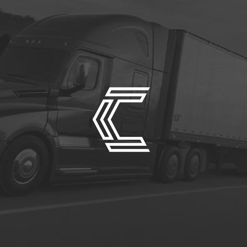 Logo for semi-truck company