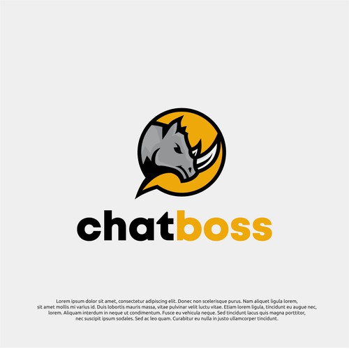 logo concept for chatboss