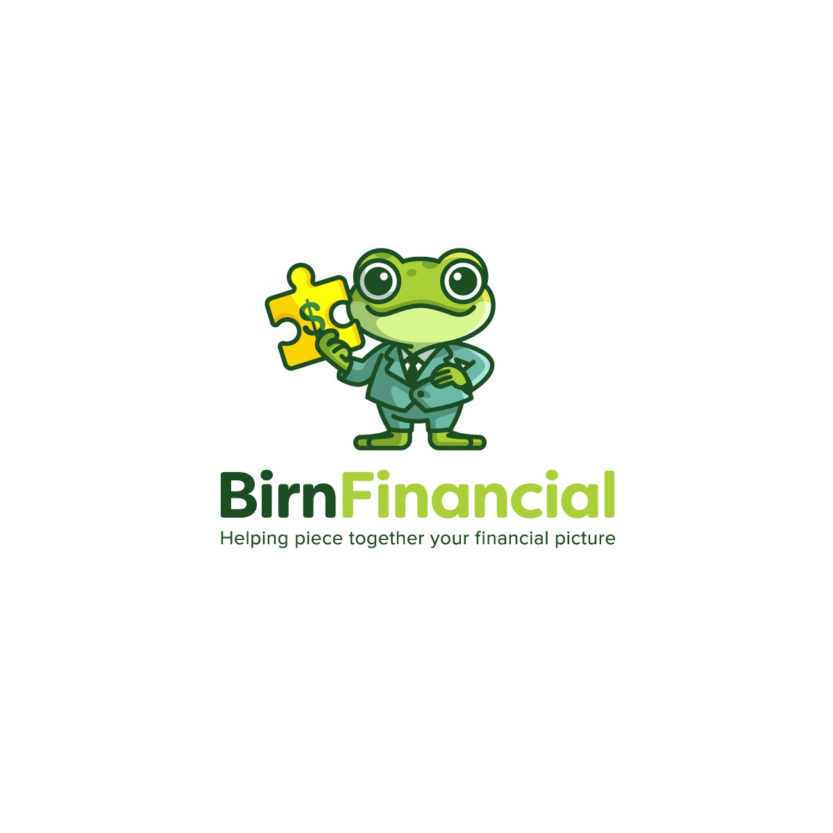 Ribbeting Logo for financial consultant