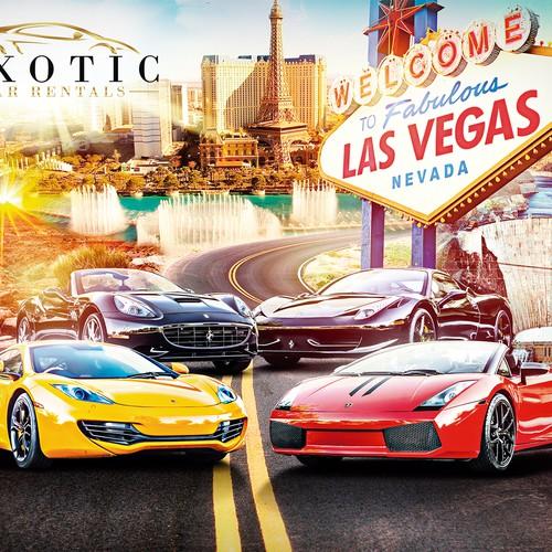 Poster Wall Exotic Car Rentals