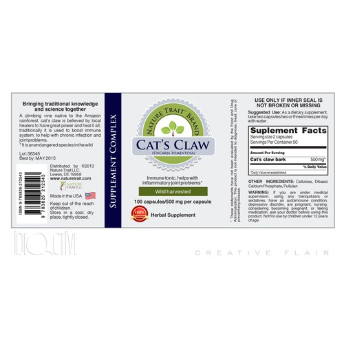 Create the next product label for Nature Trait LLC