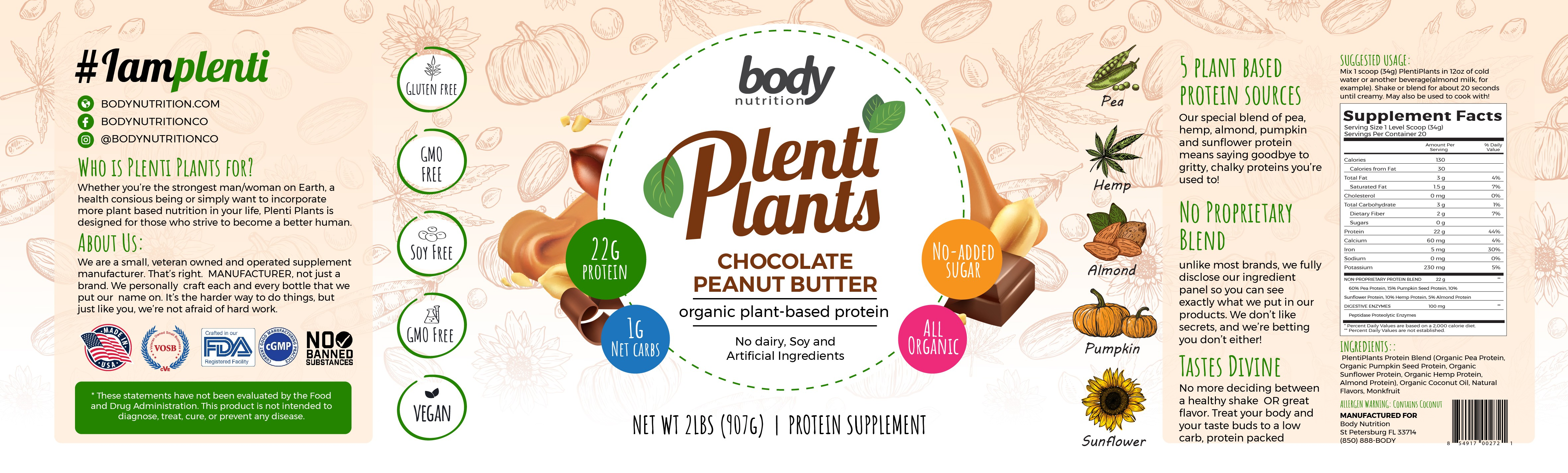 Plant Based Protein Label Design