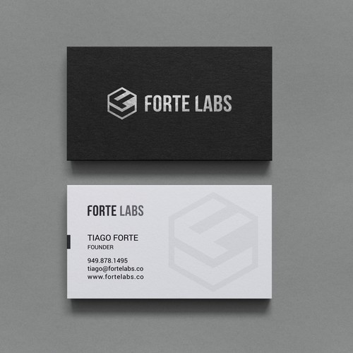 Clever business card combining productivity + design thinking (Forte Labs)