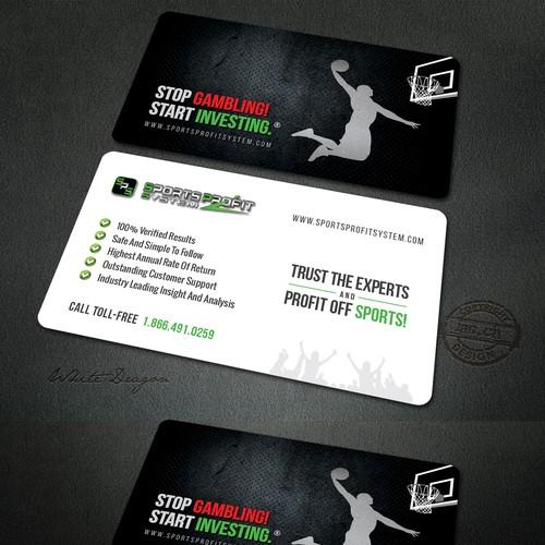 business card design for sport profit system
