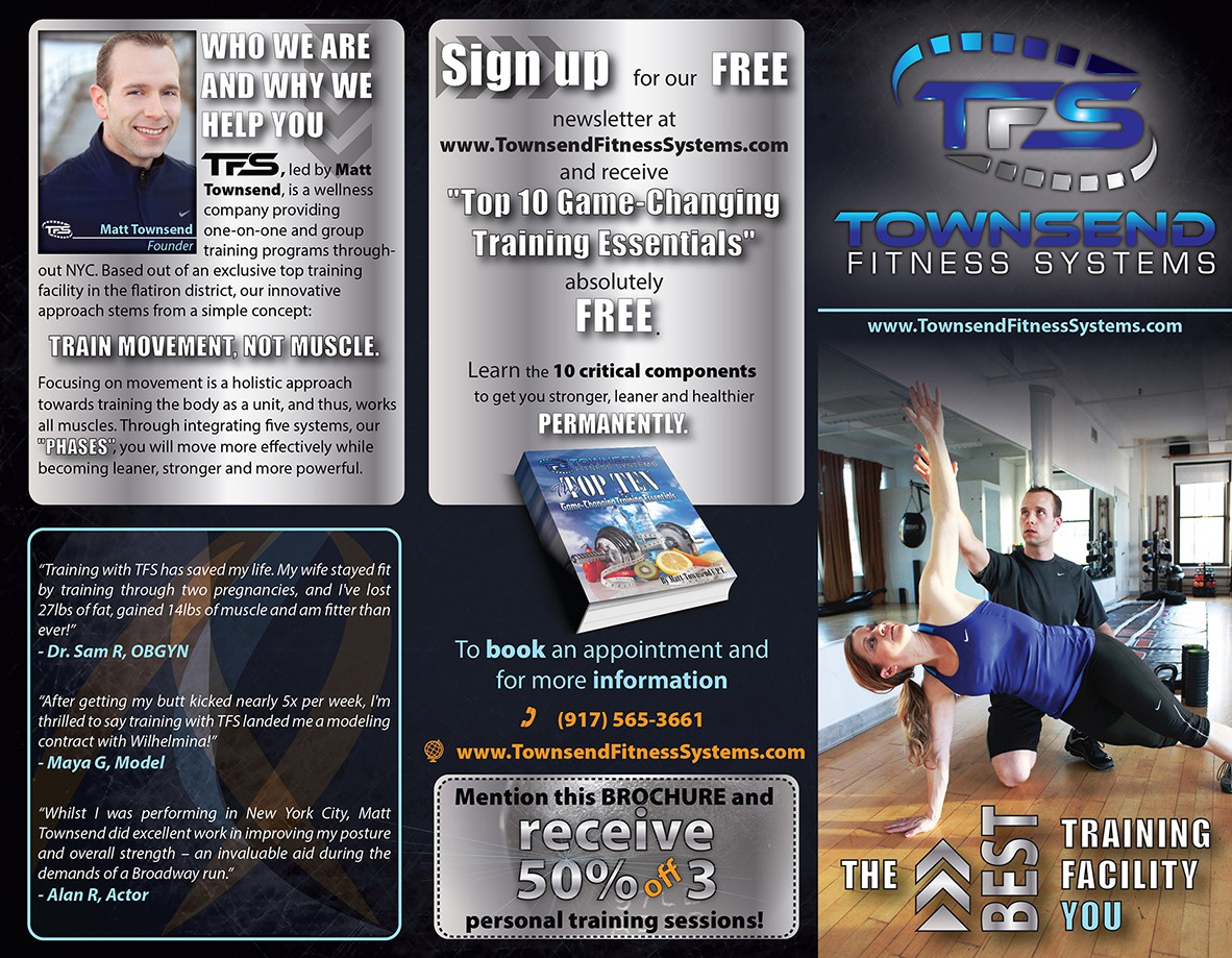 Townsend Fitness Systems needs a new brochure design
