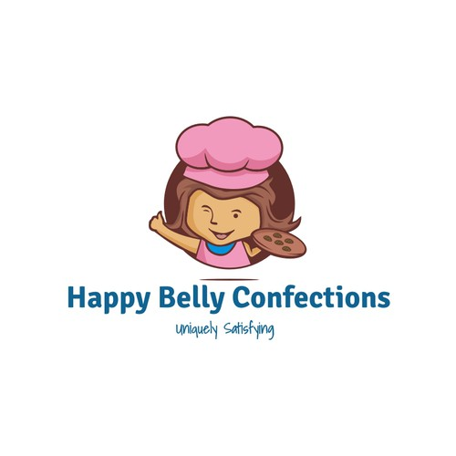 Create a simple, elegant and timeless logo for Happy Belly Confections