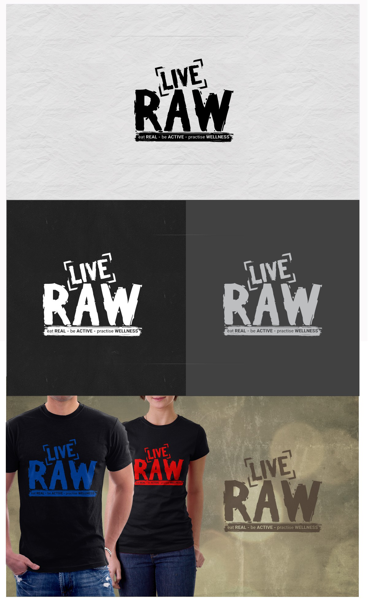 Edgy, gritty logo design for Live RAW!