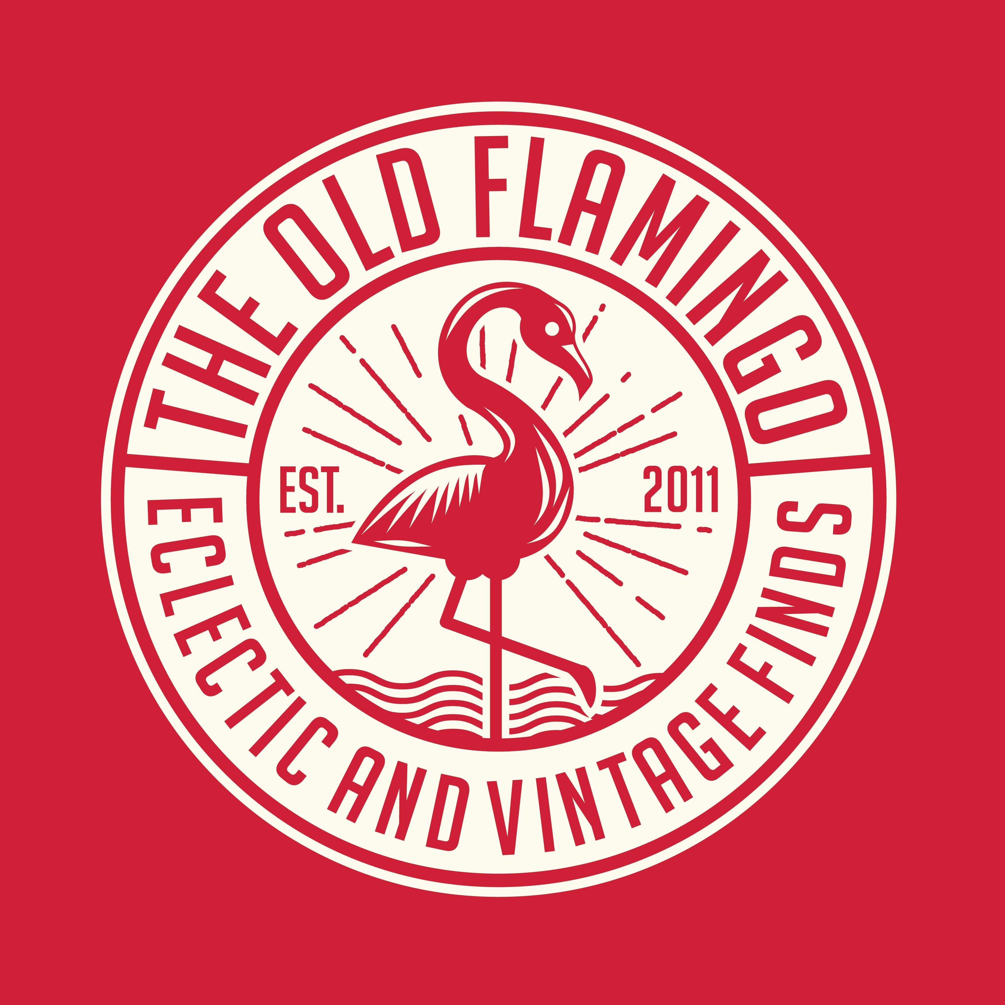 Create hip logo for THE OLD FLAMINGO that specializes in eclectic, vintage, upcycled furniture finds