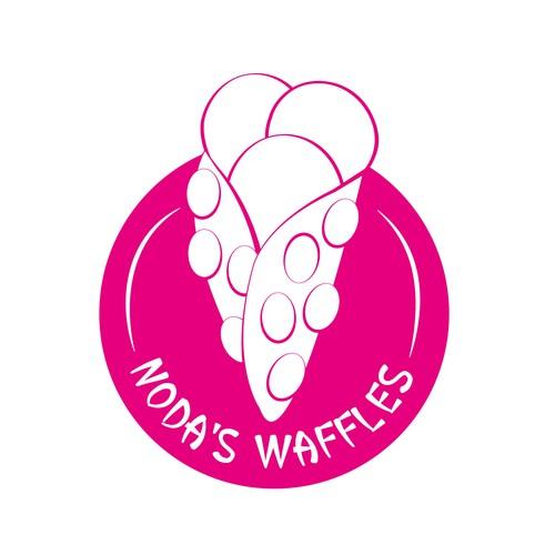 Noda's Waffles Logo Design